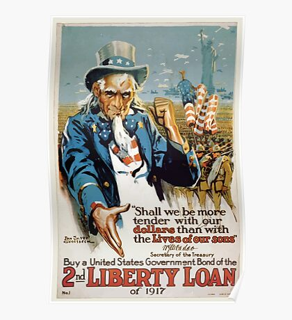 Buy a United States government bond of the 2nd Liberty Loan of 1917 002 Poster