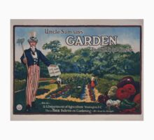 Uncle Sam says  garden to cut food costs Ask the US Department of Agriculture Washington DC for a free bulletin on gardening  its food for thought 002 One Piece - Long Sleeve