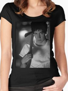 Donnie Darko (Black and White) Women's Fitted Scoop T-Shirt