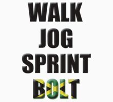 Walk, Jog, Sprint, BOLT! Kids Tee