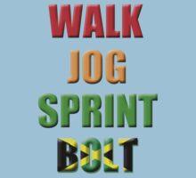Walk, Jog, Sprint, BOLT!! Baby Tee