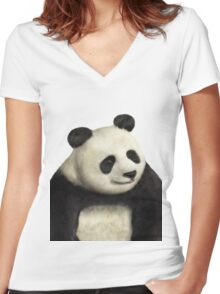 Awesome panda is awesome Women's Fitted V-Neck T-Shirt