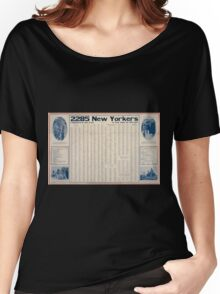 2285 New Yorkers volunteered in one week Is your name on this list 002 Women's Relaxed Fit T-Shirt