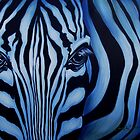 Blue Zebra Face by Cherie Roe Dirksen