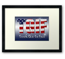 Patriotic Thanks Framed Print
