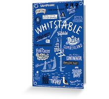 Hand-drawn Whitstable icons print Greeting Card