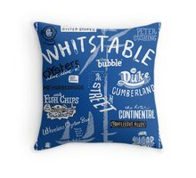 Hand-drawn Whitstable icons print Throw Pillow
