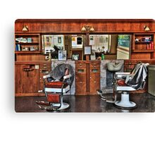 Ye Old Barber Shop Canvas Print