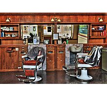 Ye Old Barber Shop Photographic Print