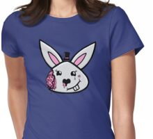 Bunny brains in formal wear Womens Fitted T-Shirt