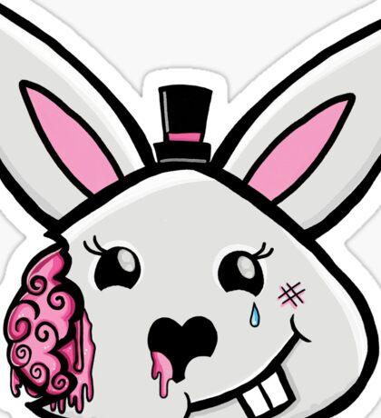 Bunny brains in formal wear Sticker