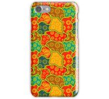 Warm Tones Retro Flowers Design iPhone Case/Skin