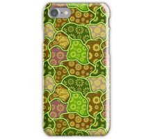Cool Pastel Tones Retro Flowers iPhone Case/Skin