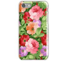 Colorful Assorted Flowers Collage Illustration iPhone Case/Skin
