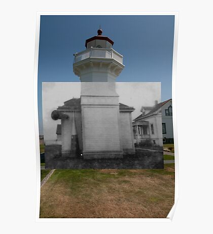 Looking into the Past: 1920s-2010: Mukliteo Lighthouse Poster