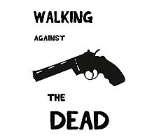 Walking against the dead Photographic Print