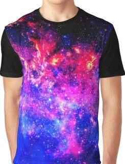 Violet Galaxy Graphic T-Shirt