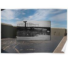 Looking into the Past, Fort Casey 10-inch Gun Poster