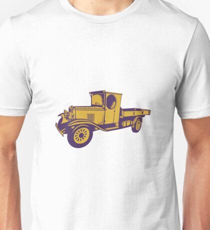 1920s Pick-up Truck Woodcut Unisex T-Shirt