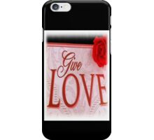 VALENTINES DAY CARD - LOVE MATTERS iPhone Case/Skin