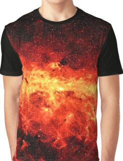 Fire Galaxy Graphic T-Shirt