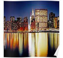 Romantic NYC Night Poster