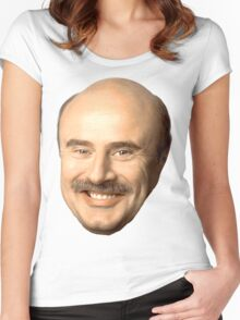 dr phil's face, beautiful  Women's Fitted Scoop T-Shirt