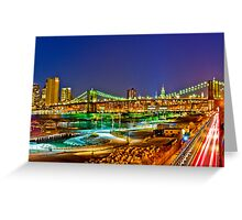Happy Easter Night in NYC Greeting Card