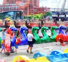Dragon Boats Baltimore MD by Susan Savad