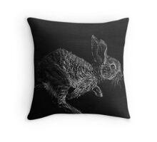 Young White-tailed Jack Rabbit Throw Pillow