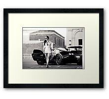 Corissa Fur - Bugatti Veyron Framed Print
