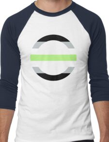 Agender Symbol/Flag Men's Baseball ¾ T-Shirt