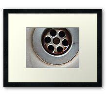 Plug Hole Framed Print