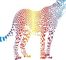 Abstract rainbow cheetah by gepard