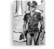 Knickers' less cop Canvas Print