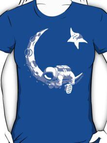 Moonstuck - Alternate Universe on Blue T-Shirt