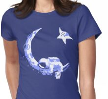 Moonstuck - Alternate Universe on Blue Womens Fitted T-Shirt
