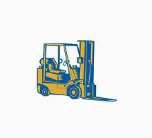 Forklift Truck Side Woodcut Unisex T-Shirt