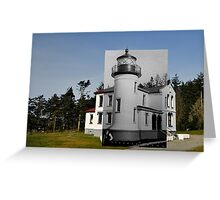 Looking into the Past: 1906-2010 Admiralty Head Lighthouse Greeting Card