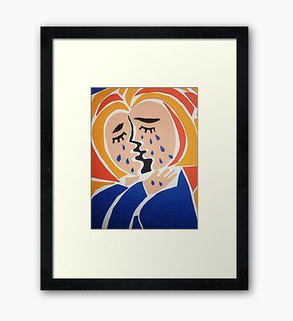 Weeping Woman Framed Print