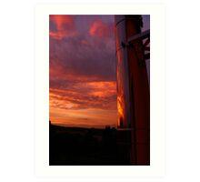 Evening Sky Reflections Art Print