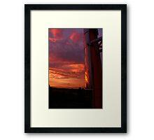 Evening Sky Reflections Framed Print