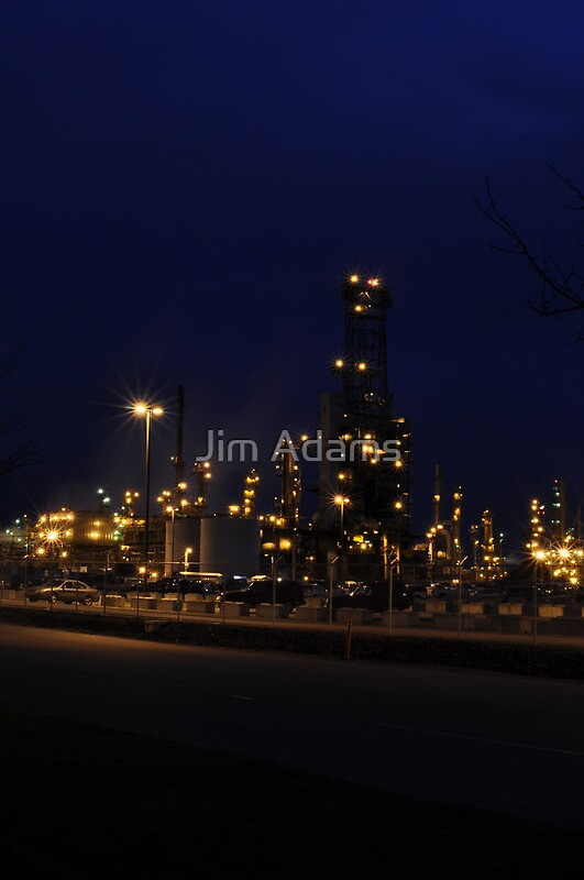 Anacortes Refinery Posters By Jim Adams Redbubble