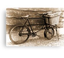 Bike & Basket Canvas Print