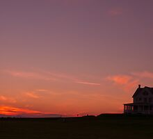 Sunset at the Quarters by Jim Adams