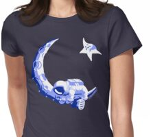 Moonstuck - Five O'Clock Shadow on Dark Blue Womens Fitted T-Shirt