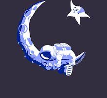 Moonstuck - Five O'Clock Shadow on Dark Blue Womens Fitted T-Shirt