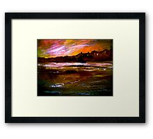 The City And The River Framed Print
