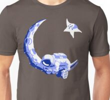 Moonstuck - Five O'Clock Shadow on Dark Grey Unisex T-Shirt