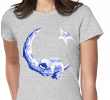 Moonstuck - Five O'Clock Shadow on Heather Grey Womens Fitted T-Shirt